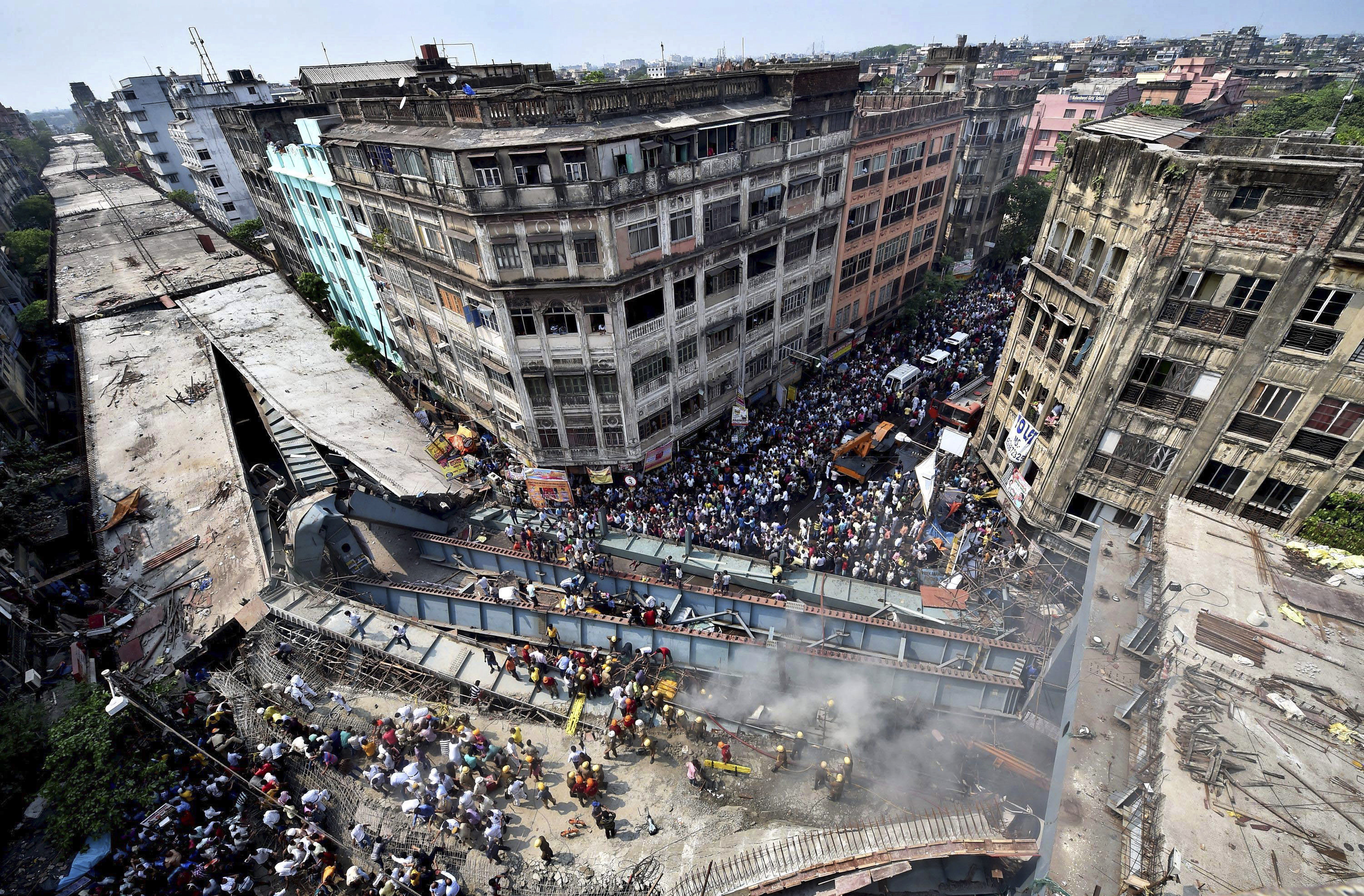 Photos Of The Day Overpass Collapses In Crowded Indian City